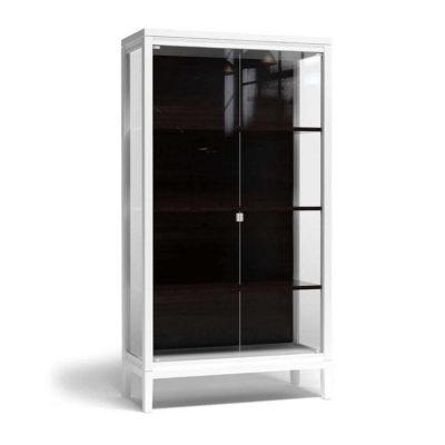 Белая витрина для гостиной
