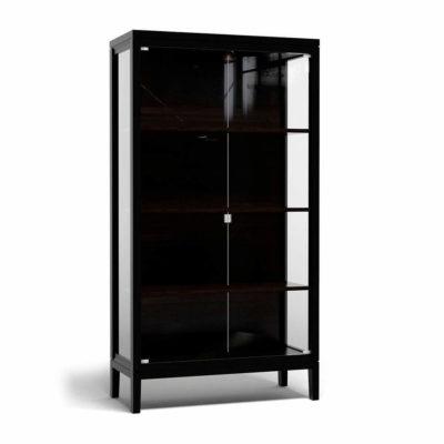 Черная витрина Брассет для посуды или книг