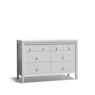 качественная российская мебель - белый комод 120 см