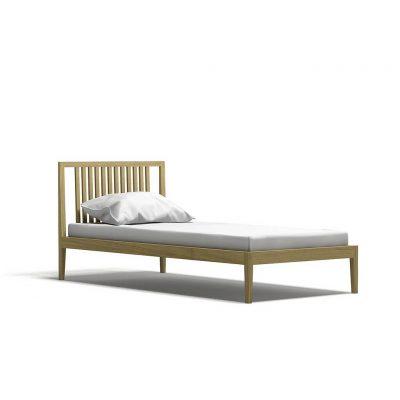 односпальная кровать в современном стиле из массива дуба