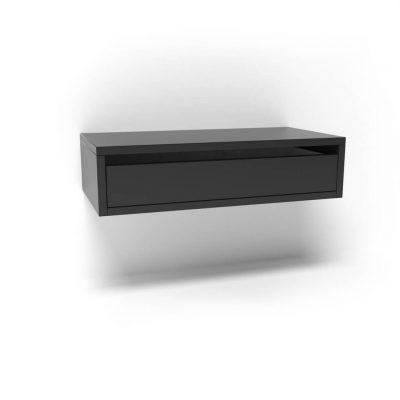 черная подвесная прикроватная тумба
