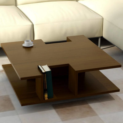 деревянный журнальный столик на колесиках