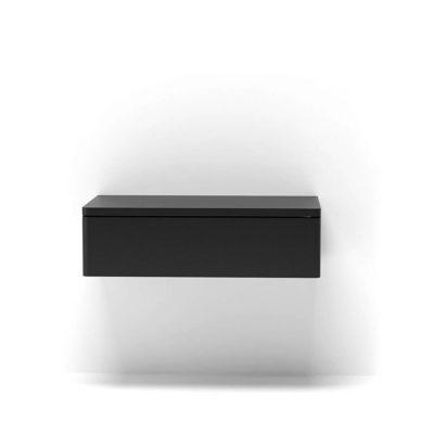 Черная прикроватная тумбочка Т55