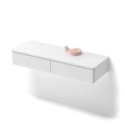 туалетный столик подвесной глянцевый белый в спальню